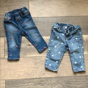 2 Pairs of GAP Jeans